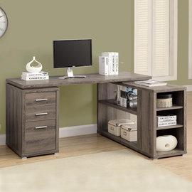 #  康迪仕複合電腦書桌  深木色  書桌 辦公桌 工作桌 會議桌 電腦椅 主管桌 電腦桌 DIY 產品