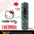【THERMOS 膳魔師】HELLO KITTY 宮廷篇不鏽鋼真空保溫瓶0.5L(JMY-501KT-DBW) 可可黑