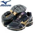 【美津濃MIZUNO】一般型WAVE RIDER 17 緩衝型慢跑鞋 (黑金) J1GC140876 (一般楦頭)