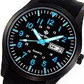 【滾石鐘錶】Glad Stone葛萊斯頓 台灣製造生產 SEIKO精工VX43石英機芯 矽膠錶帶 42mm軍用腕錶 型號:軍-12