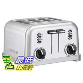 [2美國直購] CUISINART CPT-180 4片雙控 金屬經典 烤貝果機 / 厚片土司機 / 烤麵包機 1800W