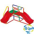 智高GIGO 隔間系列-雙滑梯  3604-CN 我的健身房(雙滑梯組)