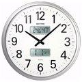 日本麗聲鐘-公司店家/日曆、溫濕度實用大掛鐘/超靜音掛鐘