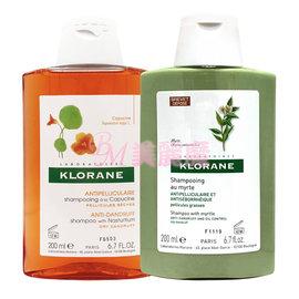 【美麗魔】KLORANE蔻蘿蘭 抗屑洗髮精200ml (乾性頭皮/ 油性頭皮) 紅百里香/ 姚金孃