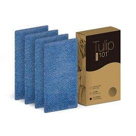 【EMEME】掃地機器人吸塵器 Tulip 101 耗材☆超纖細維拖布四片裝 可水洗