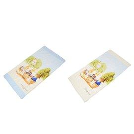 狐狸村傳奇-精梳棉床包125*65cm-L(藍色/ 米色)301-0092