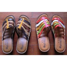 氣墊 氣墊拖 氣墊鞋 鞋 厚底 舒適線縫氣墊拖鞋~~彩色跟棕色兩款  製