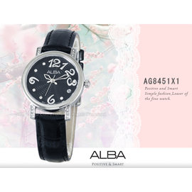 CASIO手錶專賣店 國隆 ALBA精工 雅柏手錶 AG8451X1 氣質指針型女錶 全新品 保固一年 開發票