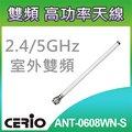 CERIO 智鼎 ANT-0608WN-S 2.4Ghz/5Ghz室外型無線網路纖細全向性6dBi/8dBi雙頻直接安裝式高功率天線
