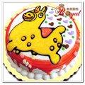 ★可愛馬平面造型蛋糕(8吋)F063
