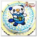 ★冰冰獺平面造型蛋糕(8吋)F129