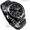 EDIFICE CASIO卡西歐EFR-526BK-1A1三眼錶IP黑電鍍 不銹鋼 黑銀配色 黑面 48mm 男錶 EFR-526BK-1A1VUDF