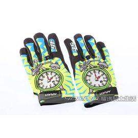 ψ/Glove_短手套-ARAYI-類AGV彩繪手套(WAKE UP 時鐘)【透氣.防曬.布】『耀瑪台中安全帽機車部品』ψ