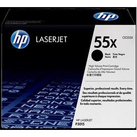 HP 55X 高容量黑色原廠 LaserJet 碳粉匣 (CE255X)