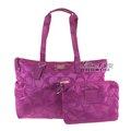 COACH 77321全新紫色尼龍旅行袋