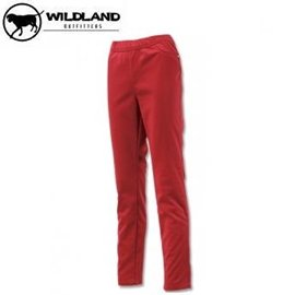 [ WILDLAND 荒野 ] 女 彈性針織合身長褲 暗紅 / 0A12363-12
