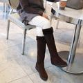 韓國妹【ecb0842】韓國空運COCOBKACK正品. 韓國製厚底2CM長筒靴. 2色230~250預購