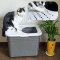 美國Petmate機能貓便盆~防狗吃貓砂,防落砂效果一級棒~MODKO.MODKAT類似款 貓砂屋 屋型貓砂盆