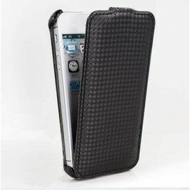 Dapad APPLE iPhone5/ 5S 卡夢紋上下掀皮套-黑色 【破盤出清】=分期零利率免運費=