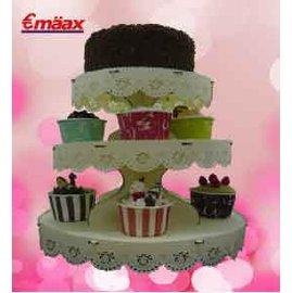 3層滾邊杯子蛋糕架