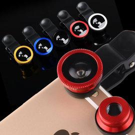三合一超廣角手機鏡頭 魚眼 微距 自拍神器 外接 升級長夾子 蘋果 三星 HTC 小米 ASUS 各式手機平板通用 L-10