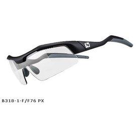 720armour Tack RX 飛磁換片運動型太陽眼鏡 B318-1-F F76 Px 霧黑框淺灰變色片