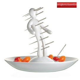 《展示品》義大利原創設計師Raffaele Iannello不鏽鋼果籤組-白色