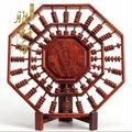 S雅軒齋 紅木工藝品木雕擺件 紅酸枝八卦算盤 商務禮品