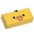 San-X 拉拉熊皮革懶熊系列眼鏡盒。小雞