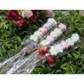 《婚禮小物-幸福花語棉花糖/100支》送花筒*1*喜糖/桌上禮/送客禮/二次進場