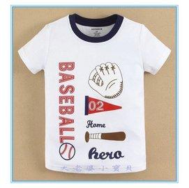 【媽咪 & baby】 夏 mom and bab棒球短袖上衣/ T恤-藍領款(12m.18m.24m.3T- 6T)