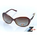 【視鼎品牌Z-POLS】艾菲爾風格紅褐款 採用頂級美國寶麗來Polarized偏光眼鏡!抗紫外線UV400!加贈眼鏡盒
