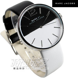 ca114a5f3497 PChome Online 商店街- 時間玩家專業手錶店- MBM1366 小馬克Marc by Marc Jacobs 是黑是白撞色造型皮帶女錶防水 手錶