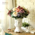 歐式宮廷花玫瑰 工藝花 家居花藝 金色玫瑰花器