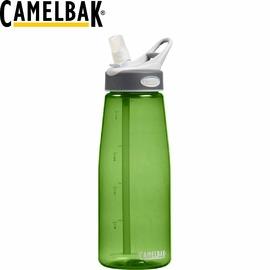 【CamelBak 美國 1000ml 吸管運動水瓶 草綠】運動水壺/ 水壺/ 耐撞擊/ 抗菌/ 提把/ 登山/ 露營/ 53232