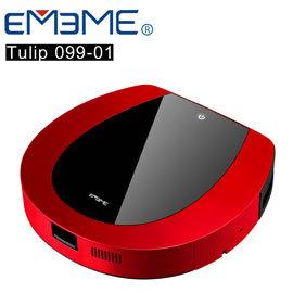 『銀髮專用一鍵啟動』【EMEME】掃地機器人吸塵器 Tulip99 (紅)《加贈一年耗材三月份x4》