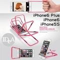 IDEA iPhone6/ Plus/ 5S 自拍神框支架手機保護殼 超薄透明硬套 器 非邊框 蘋果 Apple AHHA APP