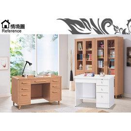 [家事達] SH885-1白色書桌免組裝寬90x深55x高75