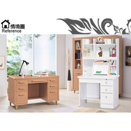 [家事達] SH885-2白色書桌免組裝寬90x深55x高164
