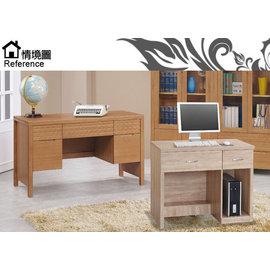 [家事達] SH886-7橡木書桌免組裝寬97x深55x高79