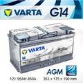 『+正負極-』德國 VARTA 高效能 AGM 深循環電瓶〈G14 95AH〉START-STOP 啟停系統專用電瓶-台北市汽車電瓶