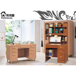 [家事達] SH897-4柚木色書桌免組裝寬91x深55x高165
