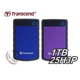 Transcend 創見 StoreJet 25H3B /  25H3P 軍規防震 1T 1TB 2.5吋 USB3.1 外接 行動硬碟