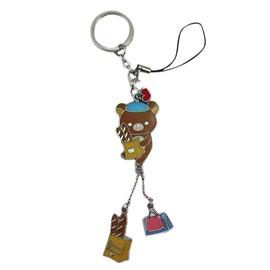 ~卡漫屋~ rilakkuma 拉拉熊 鑰匙圈 ㊣版 鋅合金 吊飾 手機MP3包包掛飾 掛環 懶懶熊
