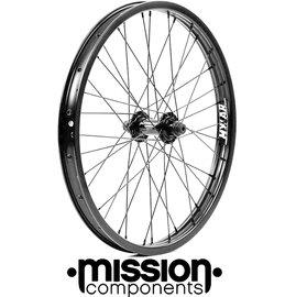 [I.H BMX] 頂級前輪組 MISSION BRIGADE 黑色 特技腳踏車街道車單速車地板車特技車場地車極限單車表演車土坡車DH下坡車...