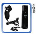 《DA量販店》Wii WiiU 左手把+右手把 送果凍套 吊繩 雙節棍 手柄控制器 黑(W94-0002)