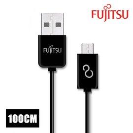 FUJITSU富士通MICRO USB傳輸充電圓線~100CM 黑