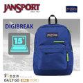 JANSPORT 後背包 15吋 平板電腦筆電包-JS-41550-5CS風暴藍