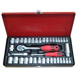 【完美工具S340B-MS1 72T 】 40件 3 8 三分公英製套筒組  汽修工具組附