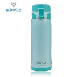 【牛頭牌 BUFFALO 】彈蓋保溫瓶 450ml (304不鏽鋼) 藍 - AF1E401